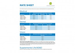 Wonderful Rate Sheet Sample